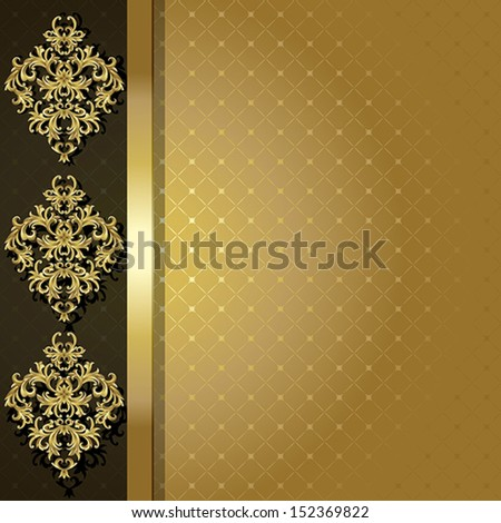 A gold background. This file contains transparency.   - stock vector