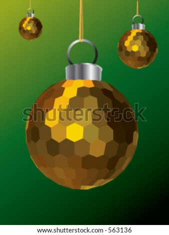 A Gold Christmas Decoration - stock vector