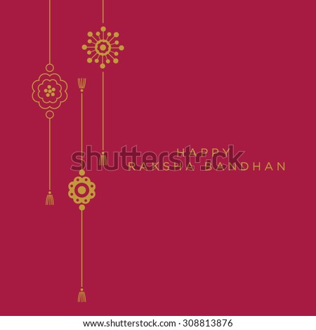 A graphic vector design for an Indian festival - Raksha Bandhan. - stock vector
