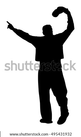 Greek Evzone Dancing Vector Silhouette Isolated Stock Vector