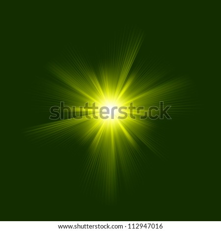 A green color design with a burst. EPS 8 vector file included - stock vector