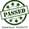 A Green 'Passed' Rubber Stamp Vector Illustration - stock vector