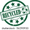A Green Recycle Rubber Stamp Vector Illustration - stock vector