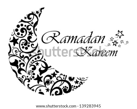 A Greeting Card Template Ramadan Kareem White Background With Isolated Icon For