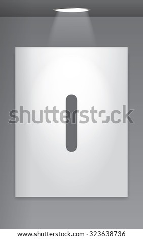 A Grey Icon Isolated on Gallery Wall - I
