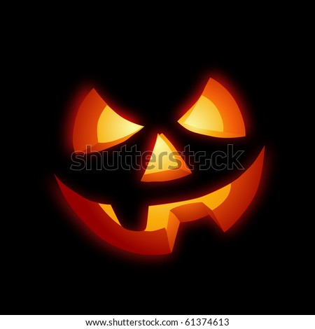 A grinning Jack O Lantern vector illustration. - stock vector