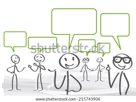 A group of lively discussion - stock vector