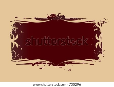 A grunge background with some calligraphy elements (Vectors 27)