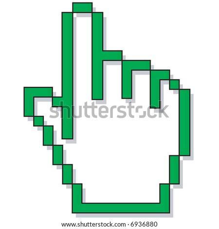 a hand cursor - stock vector