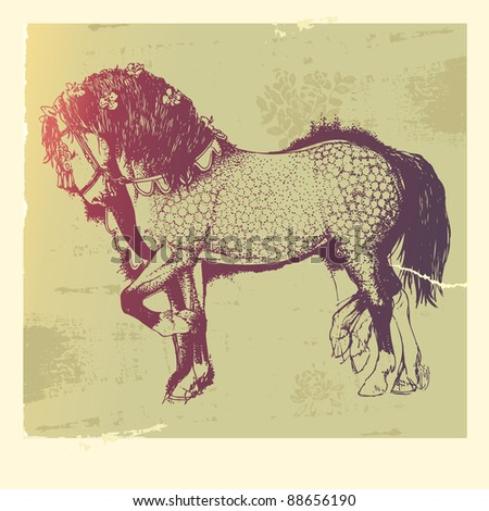 Piaffe stock images royalty free images vectors for Thoroughbred tattoo lookup