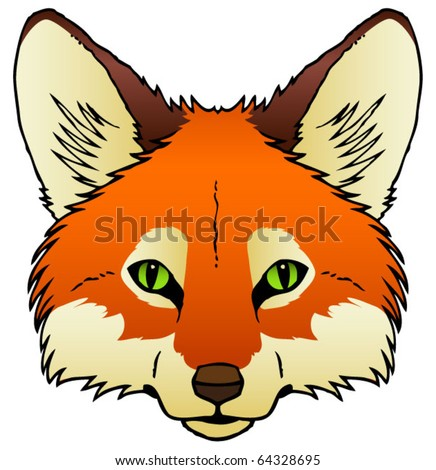 Stock Vector A Hand Drawn Vector Of A Red Fox S Face