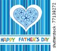 A Happy Father's Day card. Vector illustration - stock vector