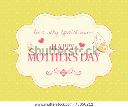 A Happy Mother's Day greeting card - stock vector