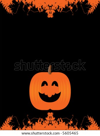 A happy pumpkin background with space for text - stock vector