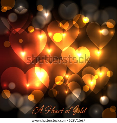 a heart of gold background