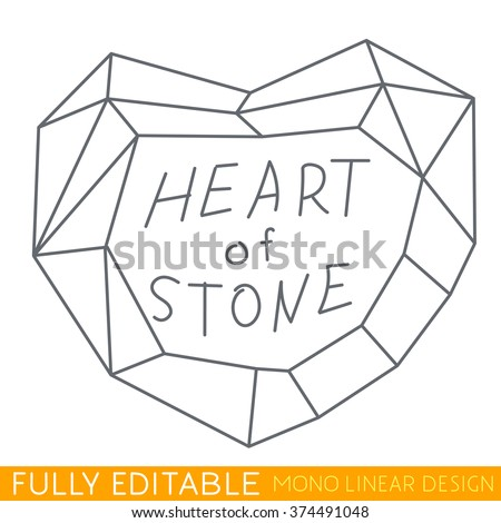 Heart Stone Symbol Unrequited Love Modern Stock Photo Photo Vector