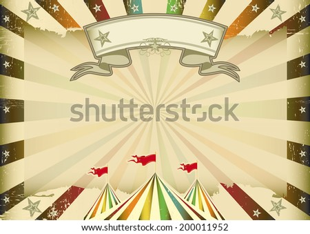 A horizontal multicolor circus background with sunbeams for you. ideal display for a screen or a pad - stock vector