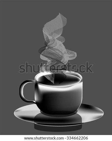 a hot cup of coffee on a saucer