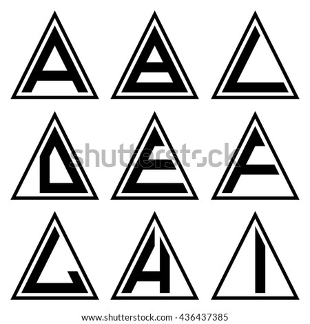Ai Triangle Shapes Alphabet Letters Font Stock Vector Hd Royalty