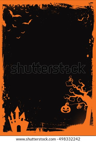 Halloween Element Border Background Template Stock Vector