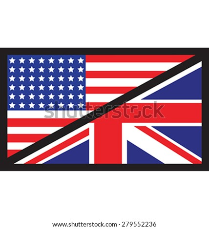 a joint background of the USA and UK flag - stock vector