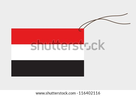 A label with string of the flag of Yemen