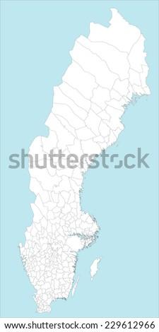 Vector Map Sweden Stock Images RoyaltyFree Images Vectors - Sweden map all cities