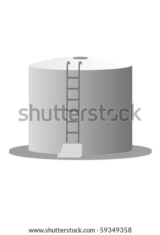 A large container of petroleum products, on a white background. - stock vector