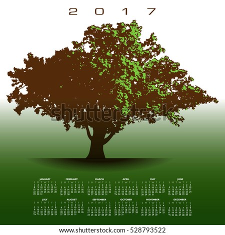 A large glorious old oak tree 2017 calendar