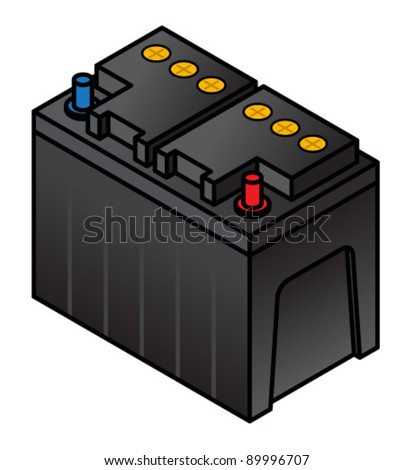 A lead acid battery.