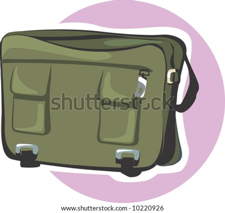 a leather bag - stock vector