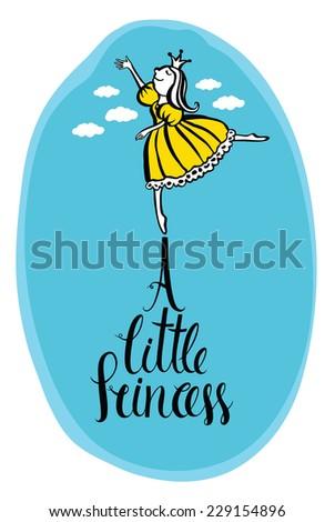 A little princess - stock vector