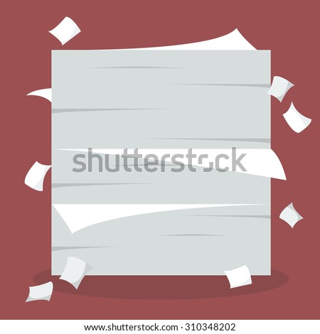 A lot of documents. Vector Illustration - stock vector