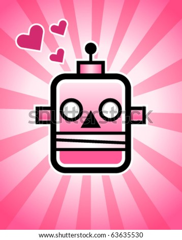 A love robot, - stock vector