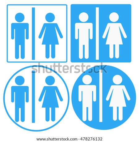 a man and a lady toilet sign,  toilet sign on white background