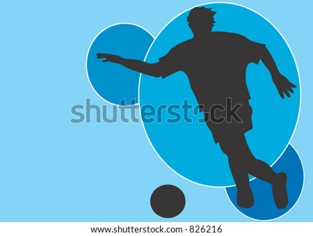 A man playing soccer