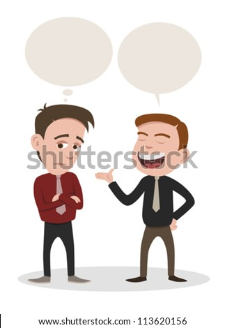 a man speaking and a man get bored - stock vector