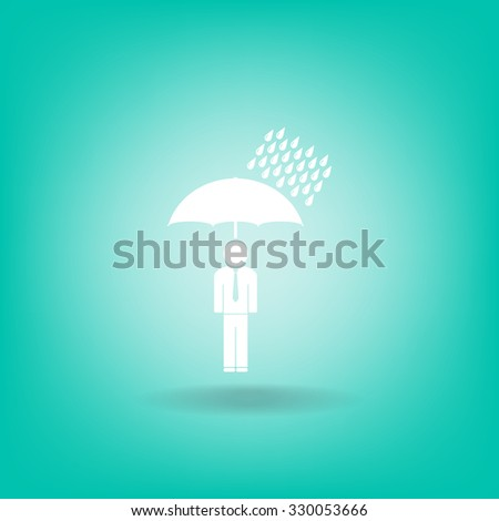 a man with an umbrella in the rain