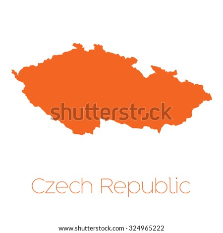 A Map of the country of Czech Republic