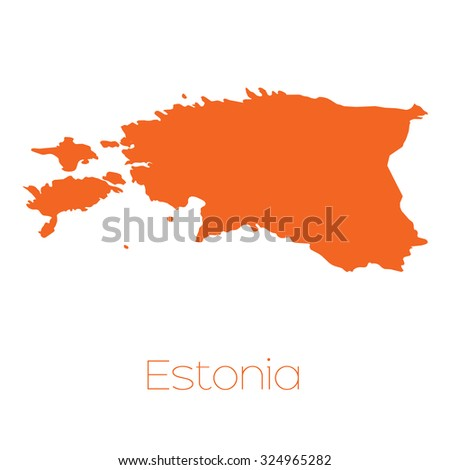 A Map of the country of Estonia