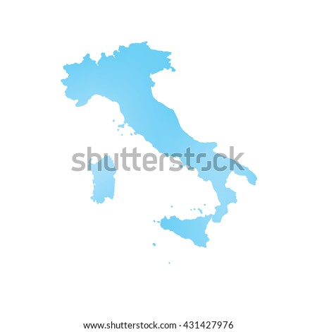 A Map of the country of Italy
