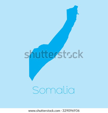 A Map of the country of Somalia - stock vector