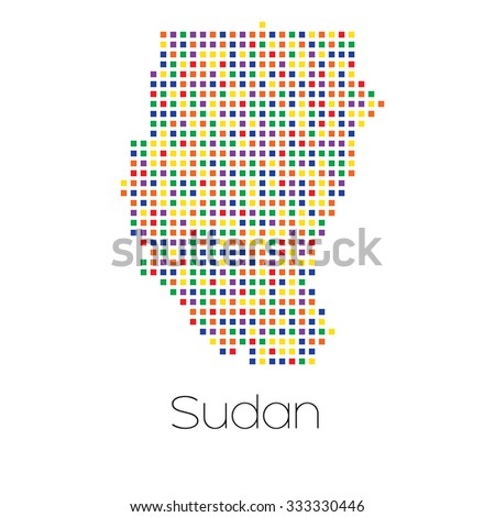 A Map of the country of Sudan