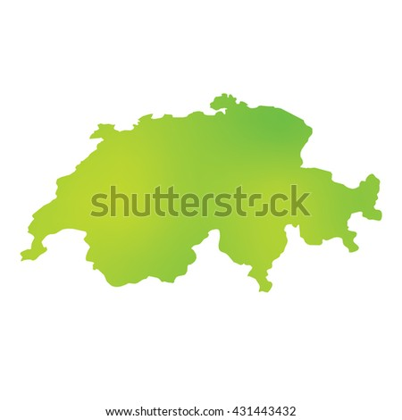 A Map of the country of Switzerland