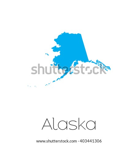 A Map of the the state  Alaska