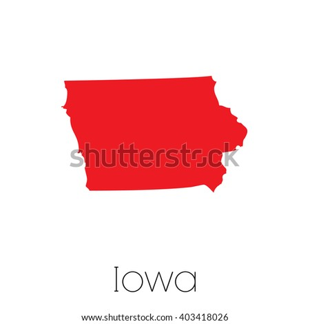 A Map of the the state Iowa - stock vector