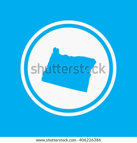 A Map of the the state Oregon - stock vector