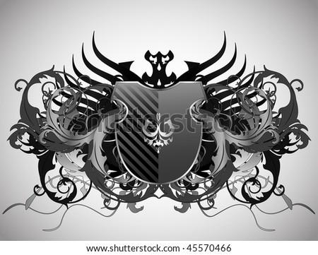 Medusa Head Vector Emblem Stock Vector 488360389