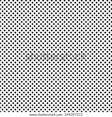 A medium sized dotted texture- black and white vector pattern - stock vector