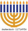 a menorah - stock photo